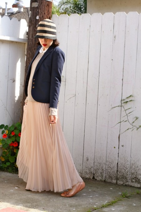 maxi pleated skirt 3