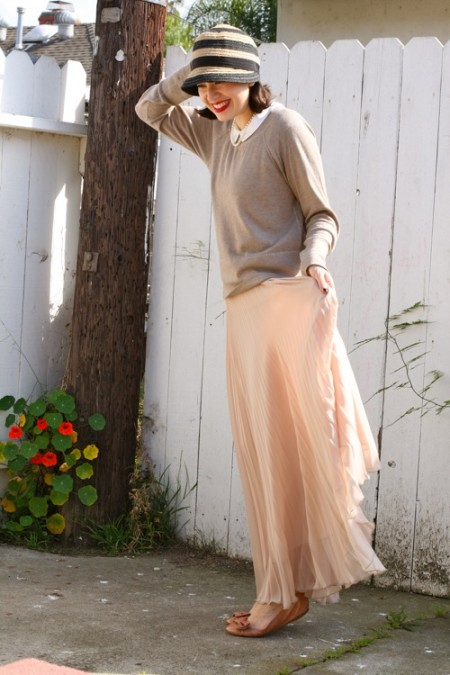 maxi pleated skirt 5