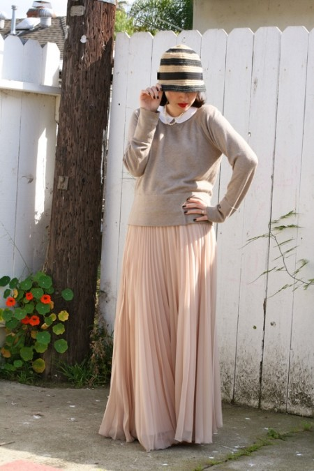 maxi pleated skirt 7